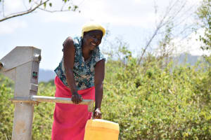 The Water Project: Kaliani Community A -  Water Flowing