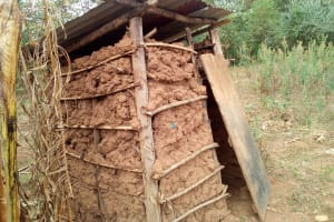 The Water Project: Shihingo Community, Inzuka Spring -  Latrine