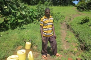 The Water Project: Bung'onye Community, Shilangu Spring -  Wilson Shilangu