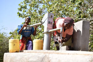 The Water Project: Ikuusya Community A -  Water Flowing
