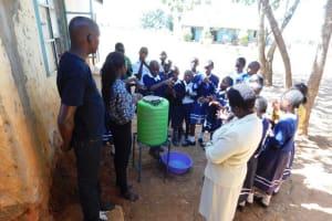 The Water Project: Shikusa Primary School -  Handwashing Training