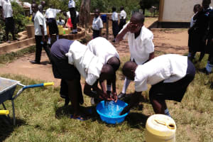 The Water Project: Bululwe Secondary School -  Freshening Up At The Well