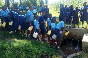 The Water Project: Enyapora Primary School -  Fetching Water