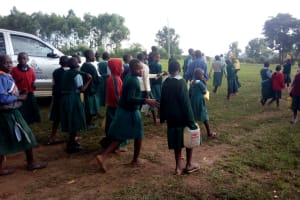 The Water Project: Bumbo Primary School -  Returning To School From Lunch