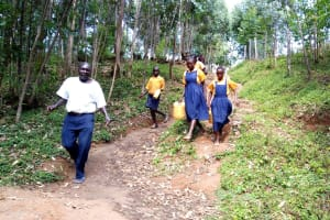 The Water Project: Friends Primary School Givogi -  Going To Fetch Water
