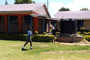 The Water Project: Banja Secondary School -  One Of The Small Plastic Tanks