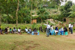 The Water Project: Bukhakunga Community, Khayati Spring -  A Large Group