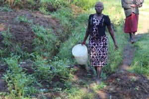 The Water Project: Bukhakunga Community, Mukomari Spring -  Coming To Fetch Water