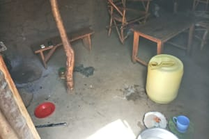 The Water Project: Tumaini Community, Ndombi Spring -  Inside A Kitchen