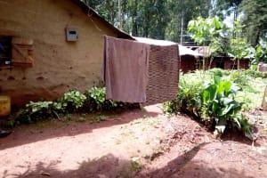 The Water Project: Mushina Community, Shikuku Spring -  Clothesline