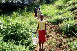The Water Project: Mushina Community, Shikuku Spring -  Walking To Fetch Water