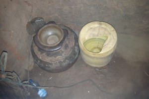 The Water Project: Mushina Community, Shikuku Spring -  Water Storage Containers