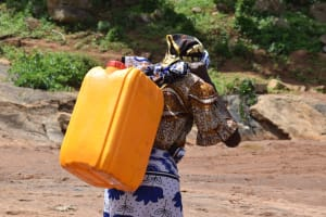 The Water Project: Maluvyu Community F -  Carrying Water