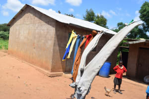 The Water Project: Maluvyu Community F -  Clothesline