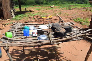 The Water Project: Maluvyu Community F -  Dish Drying Rack