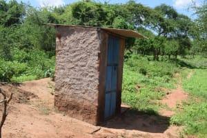 The Water Project: Maluvyu Community F -  Latrine