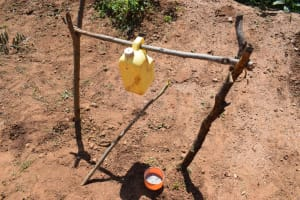 The Water Project: Maluvyu Community F -  Tippy Tap Handwashing Station