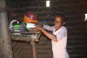The Water Project: Kaukuswi Community -  Dishrack