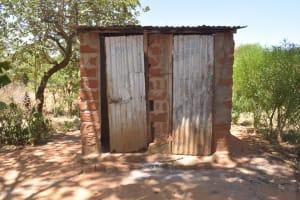 The Water Project: Kaukuswi Community -  Latrine