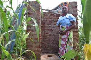 The Water Project: Kangalu Community -  Inside Latrine