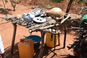 The Water Project: Maluvyu Community G -  Dish Drying Rack