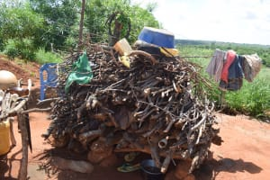 The Water Project: Maluvyu Community G -  Firewood