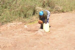 The Water Project: Mukuku Community A -  Fetching Water