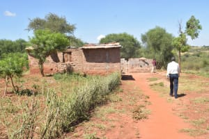 The Water Project: Mukuku Community A -  Home Under Construction