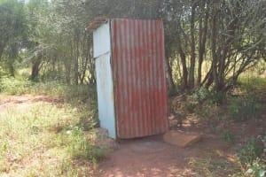 The Water Project: Mukuku Community A -  Latrine