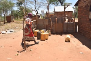 The Water Project: Kaukuswi Community A -  At Home