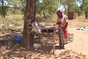 The Water Project: Kaukuswi Community A -  Dishrack