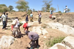 The Water Project: Kaukuswi Community A -  Preparing Area For Dam