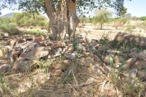 The Water Project: Kaukuswi Community A -  Rocks Collected For Construction