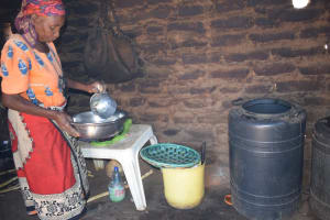 The Water Project: Kaukuswi Community A -  Water Storage Containers