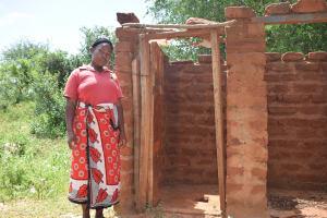 The Water Project: Kangalu Community A -  Latrine