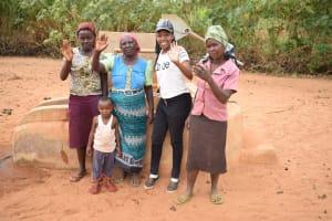 The Water Project: Katuluni Community -  Rachel Fundi Mary Nzoka Field Officer Lilian Kendi And Elizabeth Mueni