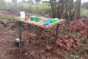 The Water Project: Nyakasenyi Byebega Community -  Dish Drying Rack