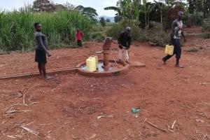 The Water Project: Kikube Nyabubale Community -  At Alternative Well