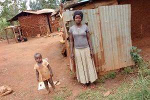 The Water Project: Kikube Nyabubale Community -  Bathing Shelter