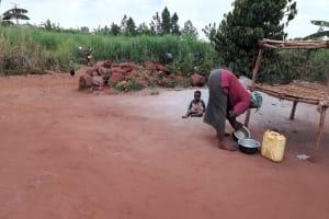 The Water Project: Kikube Nyabubale Community -  Cleaning Pots