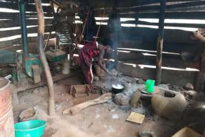 The Water Project: Kikube Nyabubale Community -  Cooking In Kitchen