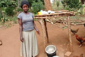 The Water Project: Kikube Nyabubale Community -  Dishrack And Chickens