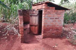 The Water Project: Kikube Nyabubale Community -  Latrine