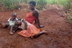 The Water Project: Kikube Nyabubale Community -  Nasaka Sarah And Her Children