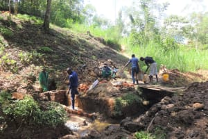 The Water Project: Ilala Community, Arnold Johnny Spring -  Spring Construction