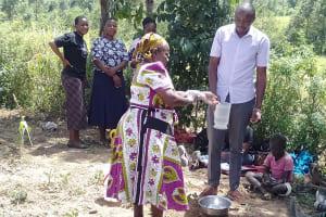 The Water Project: Lukova Community, Wasike Spring -  Handwashing Training