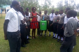 The Water Project: Ebubere Mixed Secondary School -  Handwashing Demonstration