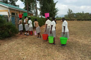 The Water Project: Kimangeti Girls' Secondary School -  Carrying Water Back To School