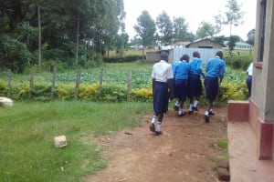 The Water Project: Kamimei Secondary School -  Going To The Latrines