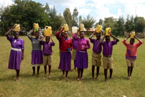 The Water Project: Chiliva Primary School -  Students Posing With Their Water Containers